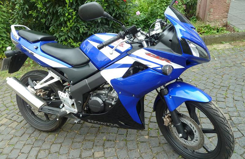 Motorradführerschein Motorrad blau